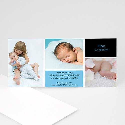 Geburtskarten für Jungen - Drei Babyfotos 4070 test