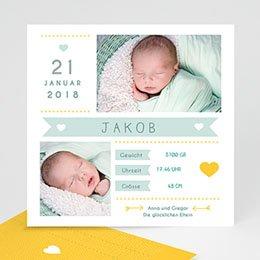 Geburtskarten für Jungen Steckbrief