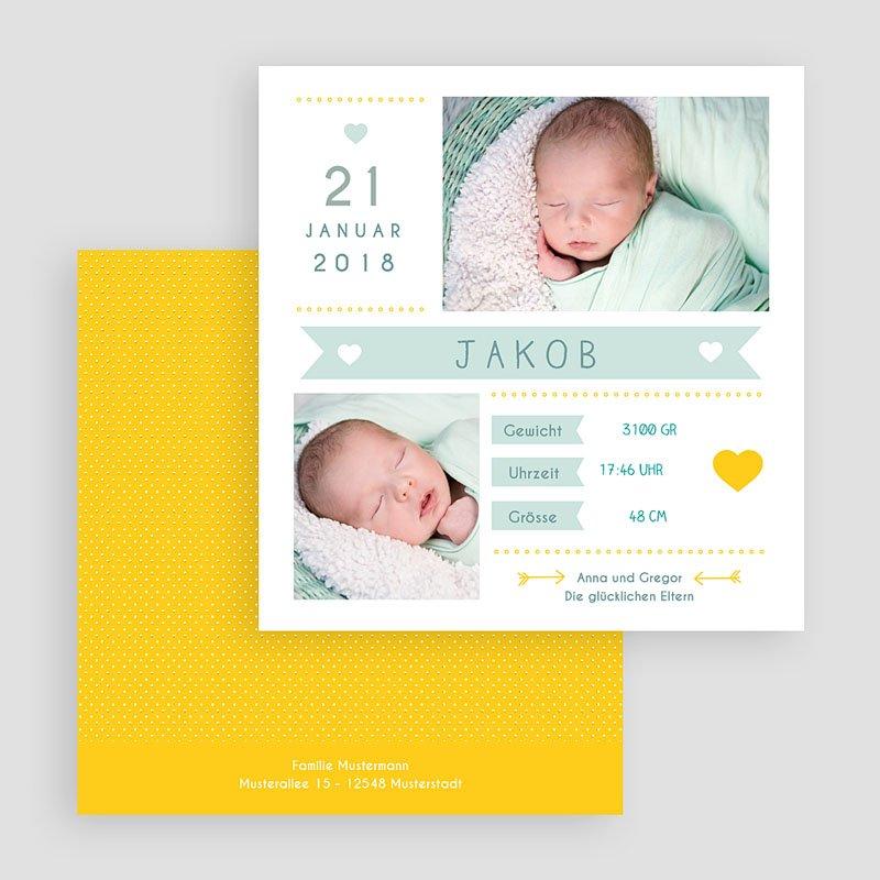 Geburtskarten für Jungen Steckbrief gratuit