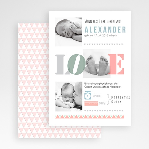 Geburtskarten für Mädchen Yosie gratuit