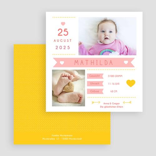 Geburtskarten für Mädchen Von Herzen gratuit