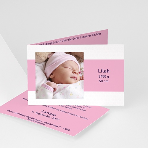 Geburtskarten für Mädchen - Tessa 4074
