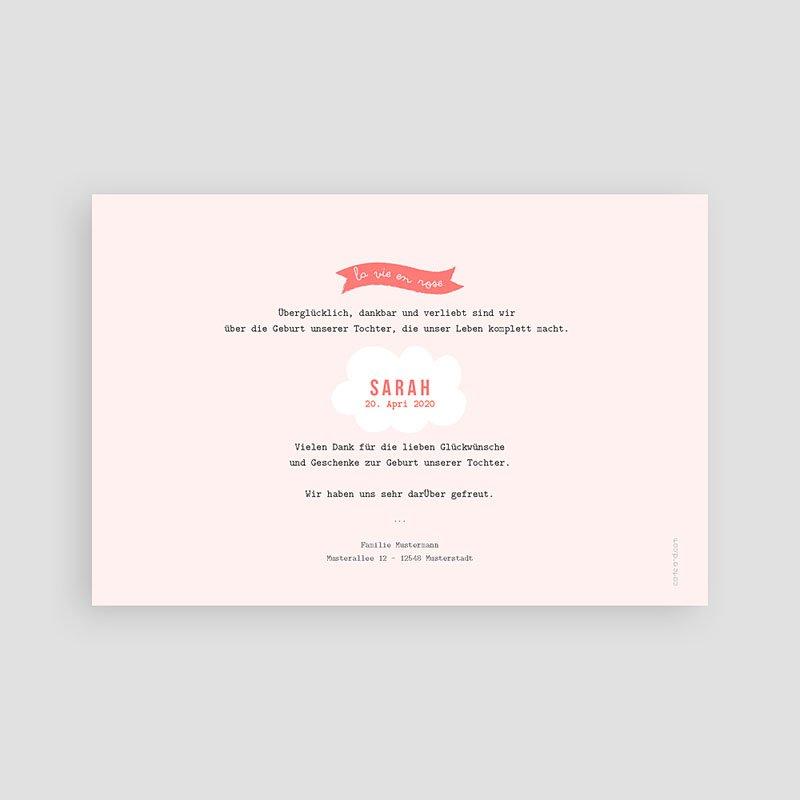 Geburtskarten für Mädchen Rosa Wolke pas cher