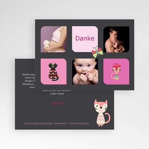 Dankeskarten Geburt Mädchen - Miau 40839 preview