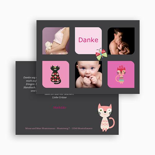 Dankeskarten Geburt Mädchen - Miau 40840 preview