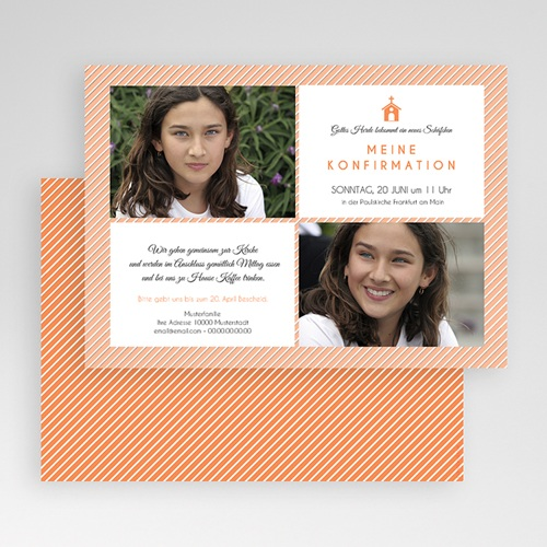 Einladungskarten Konfirmation Linien gratuit