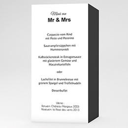 Menükarten Hochzeit  Mr und Mrs