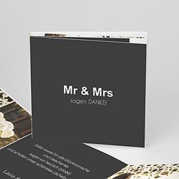 Danksagungskarten Hochzeit  - Mr & Mrs - 0