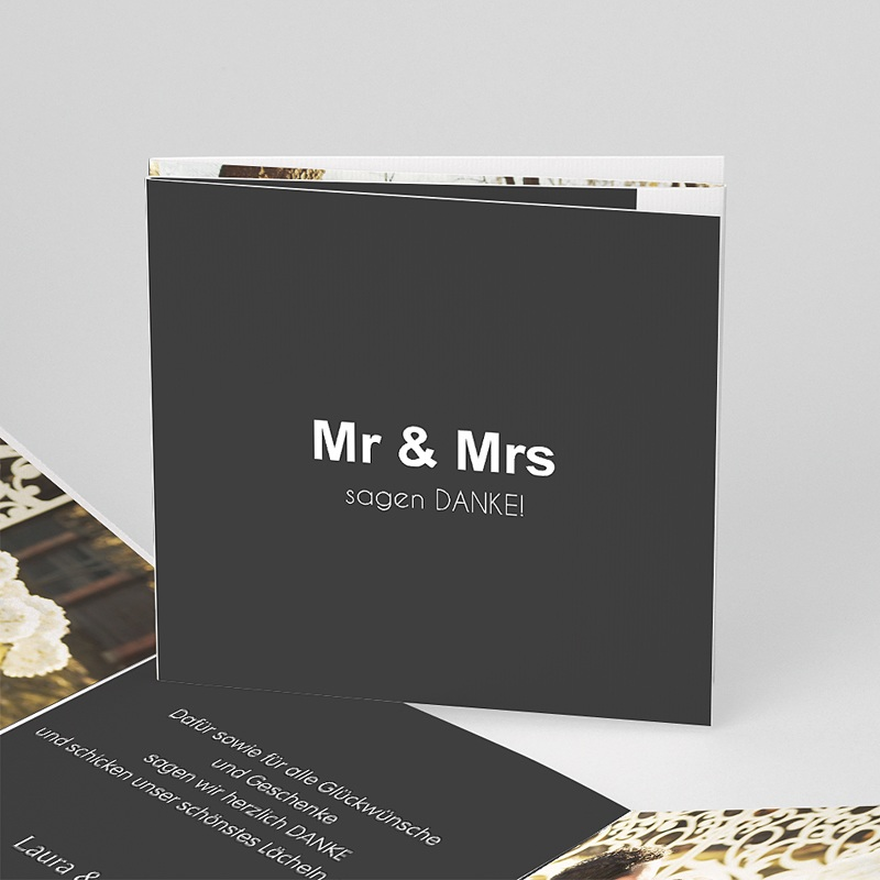 Danksagungskarten Hochzeit  Mr und Mrs