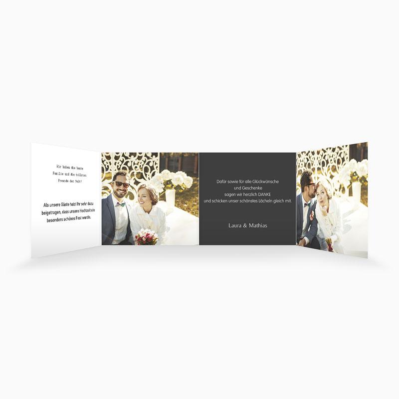 Danksagungskarten Hochzeit  Mr und Mrs pas cher