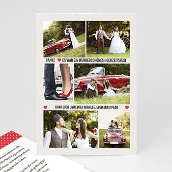 Danksagungskarten Hochzeit  - Vintage Rot - 0