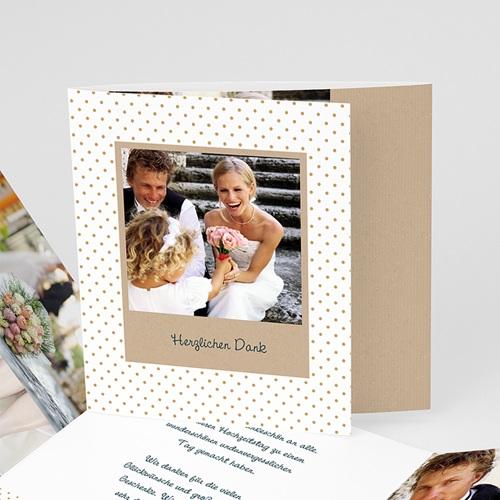 Danksagungskarten Hochzeit  Goldweiss