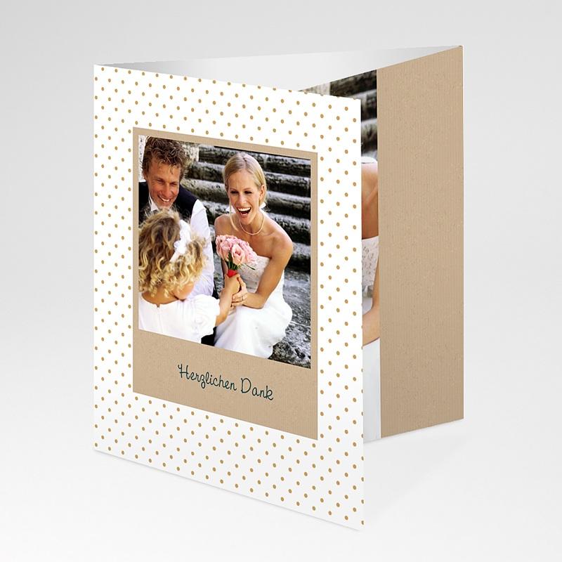 Danksagungskarten Hochzeit  Goldweiss pas cher