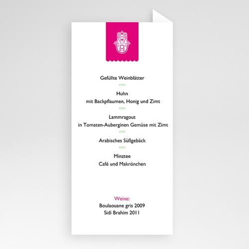 Menükarten Hochzeit  Casablanca pas cher
