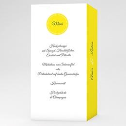 Menükarten Hochzeit  Inspiration Zitrone