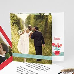 Danksagungskarten Hochzeit  - Liebesbeet - 0