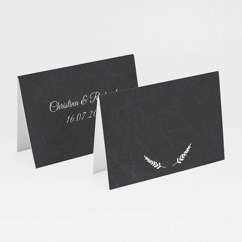 Tischkarten Hochzeit personalisiert Tafelstil chic