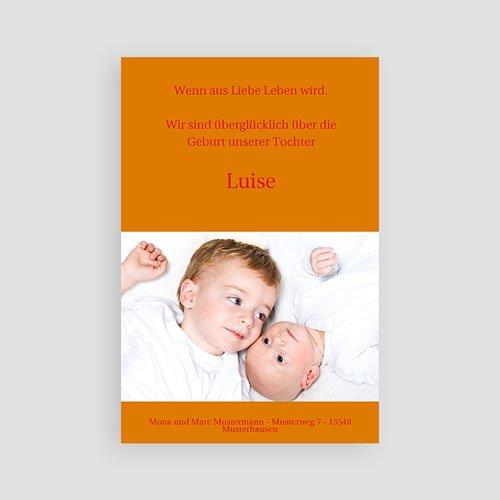 Geburtskarten für Mädchen - Schlichtes Design 4107 preview