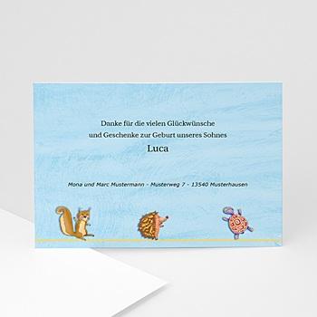 Dankeskarten Geburt Jungen Arche Noah