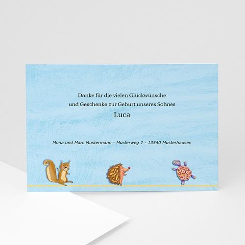 Dankeskarten Geburt Jungen - Arche Noah 4110 test