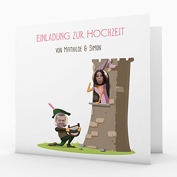 Humorvolle Hochzeitskarten  - Mittelalter - 0