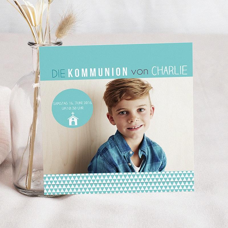 Einladungskarten Kommunion fur Jungen Multiple Typographie