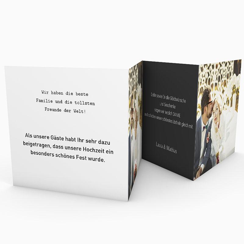 Danksagungskarten Hochzeit  Mr und Mrs gratuit