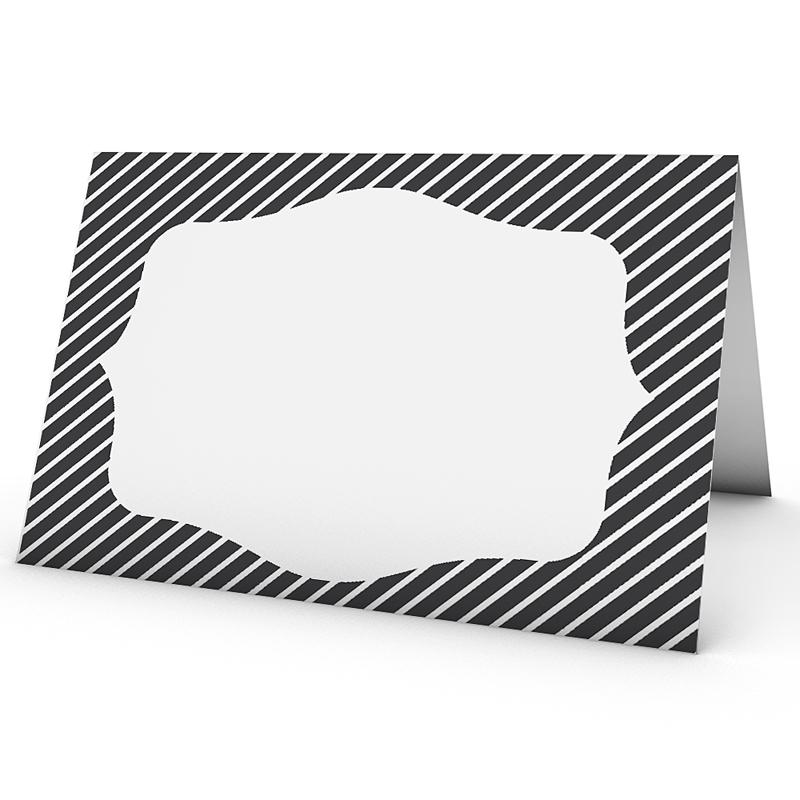 tischkarten hochzeit personalisiert schwarz weiss. Black Bedroom Furniture Sets. Home Design Ideas