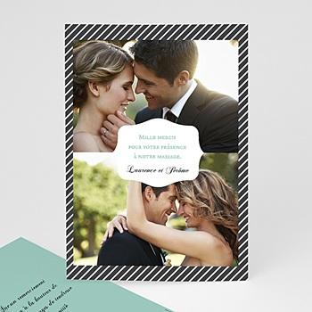 Danksagungskarten Hochzeit  - Schwarz-weiss gestreift - 0