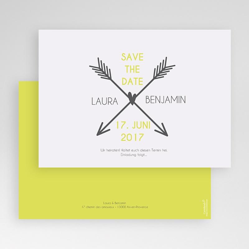 Save The Date Karten Hochzeit Liebespfeil gratuit