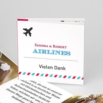 dankeskarten hochzeit reisen Airlines