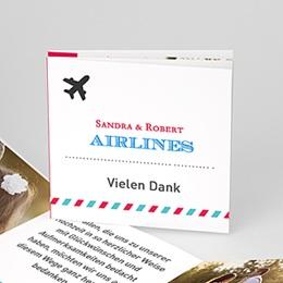 Danksagungskarten Hochzeit Airlines