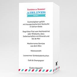 Menükarten Hochzeit  Airlines