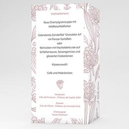 Menükarten Hochzeit  Paola