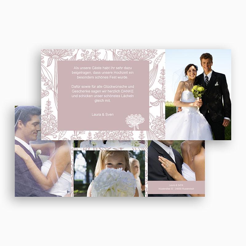 Danksagungskarten Hochzeit  Paola gratuit