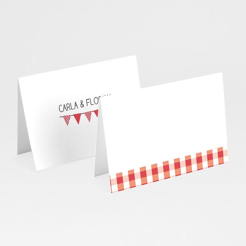 Tischkarten Hochzeit personalisiert Ambiente Vichy