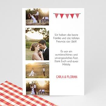 Danksagungskarten Hochzeit  - Ambiente Vichy - 0