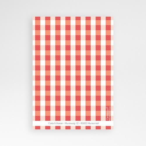 Danksagungskarten Hochzeit  Vichy Design pas cher