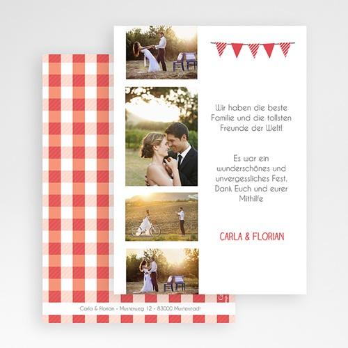 Danksagungskarten Hochzeit  Vichy Design gratuit