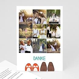 Danksagungskarten Hochzeit  - Retro Look - 0