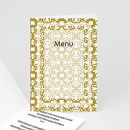 Menükarten Hochzeit  Goldene Eleganz