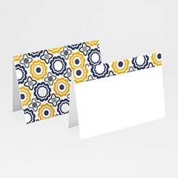 Tischkarten Hochzeit personalisiert Azulejo