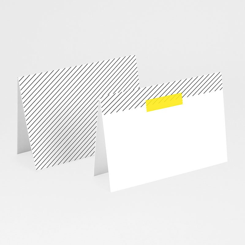 Tischkarten Hochzeit personalisiert Neon Gelb