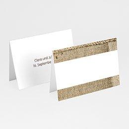Tischkarten Hochzeit personalisiert Jute