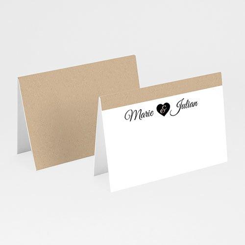Tischkarten Hochzeit personalisiert Liebesglück