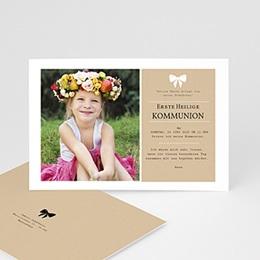 Einladungskarten Kommunion Mädchen Kraftoptik