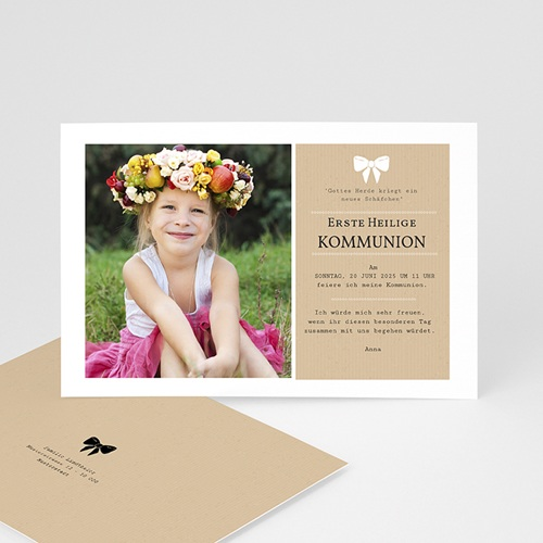 Einladungskarten Kommunion Mädchen - Kraftoptik 41621