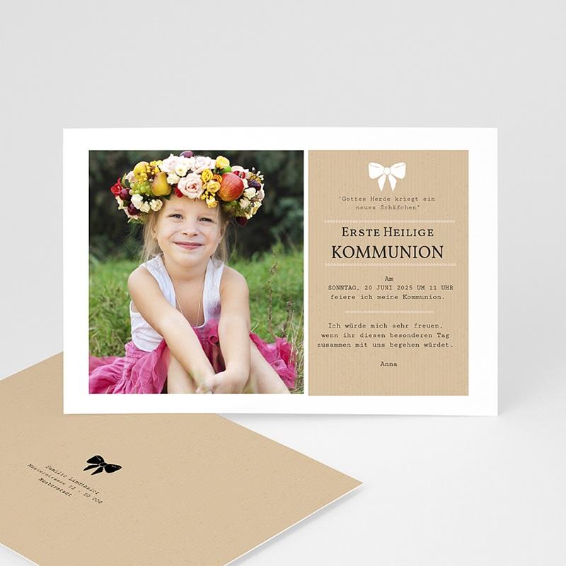 Einladungskarten Kommunion fur Mädchen Kraftoptik