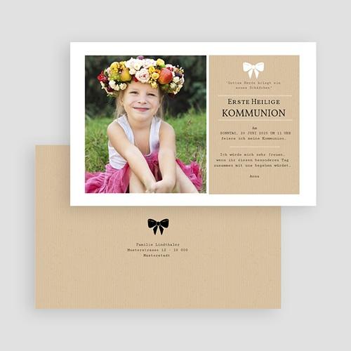 Einladungskarten Kommunion fur Mädchen Kraftoptik gratuit