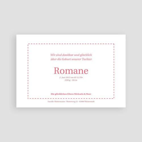 Geburtskarten für Mädchen - Rosendesign 4163 preview